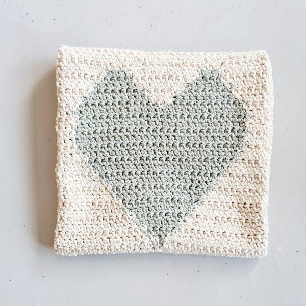 Heirloom Hand Crotchet Bamboo Heart Baby Blanket