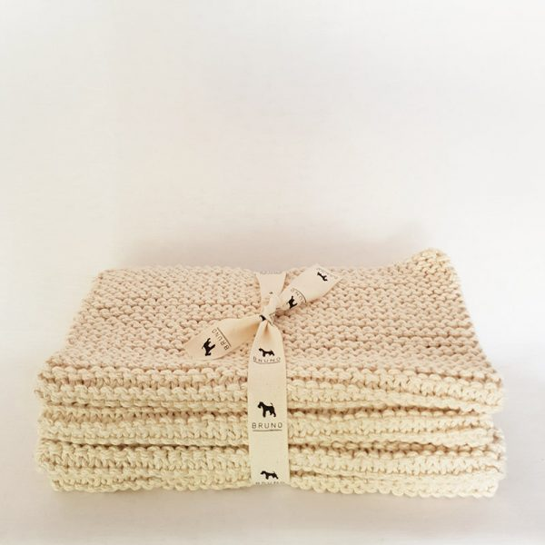 Handknitted Cotton Placemats Plain