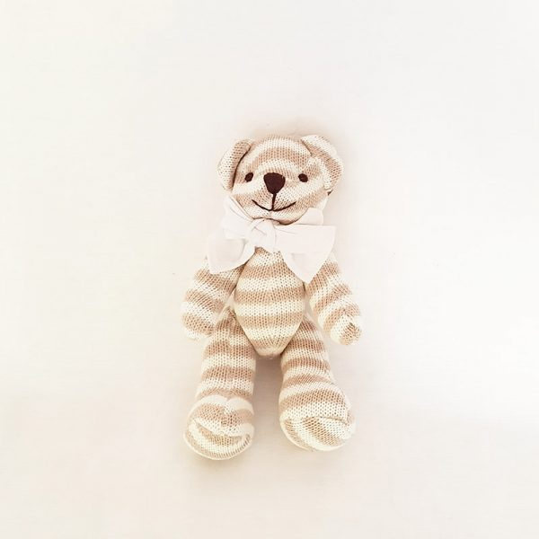Knitted Striped Teddy Bear (small)