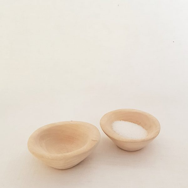 Wooden Salt & Pepper Bowl Set