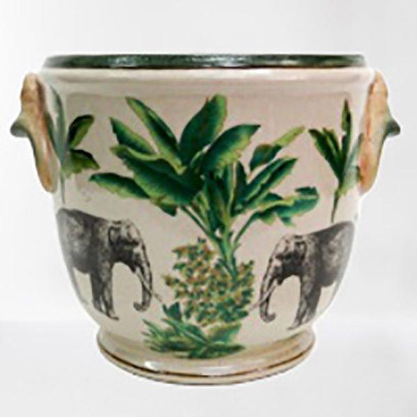 Hand Painted Porcelain Planter