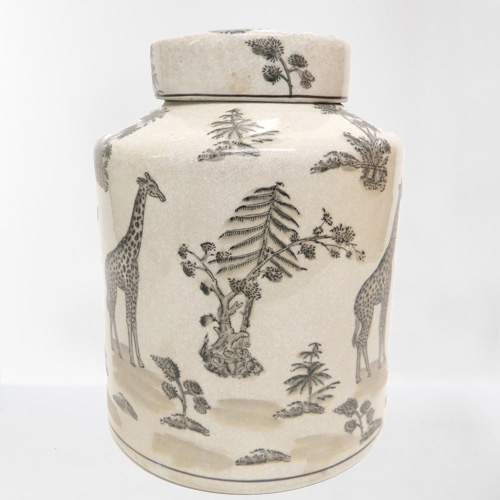 Animalia Toile Peking Porcelain Jar