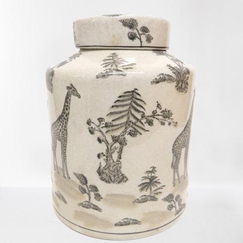 Animalia Toile Peking Porcelain Jar