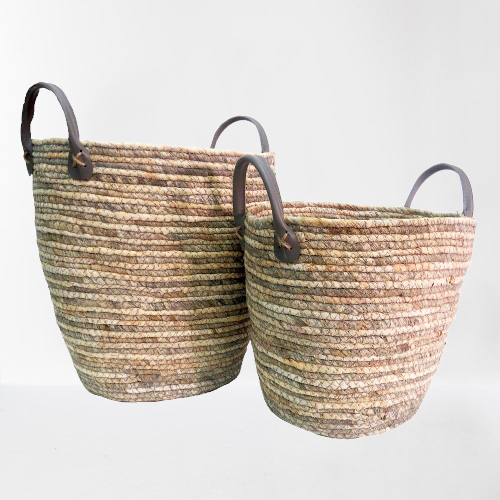 Set Of 2 Patina Baskets