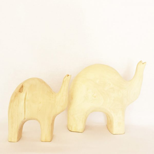 Handcrafted Elephants Set Of 2