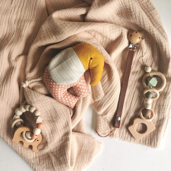 Baby Gift Set – Peach & Mustard