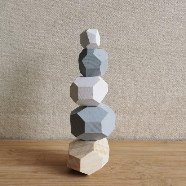 Wooden Stacking/balancing Rock Set