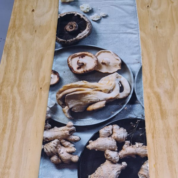 Couture Table Runner -the Magic Of Mushrooms